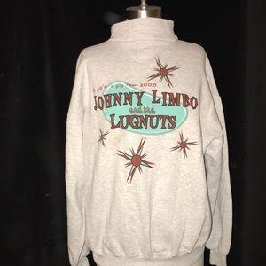 JOHNNY LIMBO AND THE LUGNUTS (vtg Band) Men's? Women's? Sweatshirt Sz XL 1/4 Zip